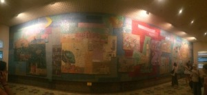 The panorama turned out kind of weird. It is actually on a straight wall