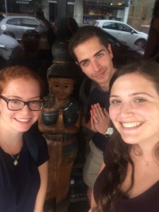 Natalie, Daniel and I after enjoying our meal at Beit Thailandi