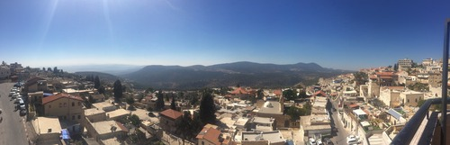 Panorama from an overlook in Tzfat. GORGEOUS