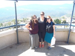 Erin, Natalie and me at the Tzfat overlook