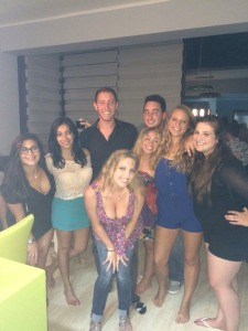 L to R: Morgan, Yael, Jess, Starr, Brittney, Garrett, Lilah, and me. This picture tells me that I really need to tan my legs…