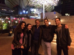 L to R: Myriam, me, new Daniel, Aaron, and Daniel. Natalie had to go catch her bus, so she missed the group photo