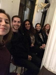 L to R: Daniel's friend Olivia, Daniel, Myriam, me, and Rebecca