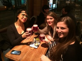 Rana, Susan, and I enjoying our beer! It was called Liefman's
