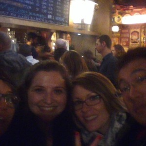 Not a great picture, but L to R: Rana, me, Susan, and Bryan, in Delirium