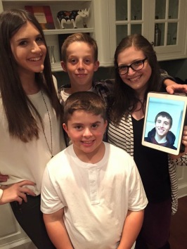 All the cousins! Clockwise from top left: Lauren, Ethan, me, Zach (via FaceTime), and Andrew