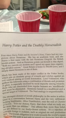 Harry Potter-themed Seder!