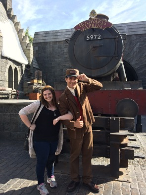 The conductor for the Hogwarts Espress!