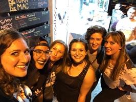 L to R: Mel, Maria, Brooke, me, Emily, Devon