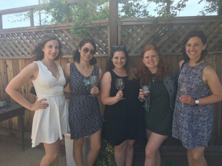 L to R: Jesse, Rachel, me, Rebecca, Shoshana