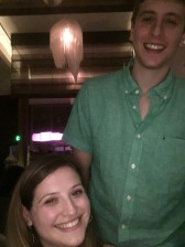 Not our actual height difference!